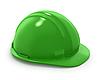 Green builder`s helmet isolated | Stock Illustration