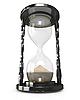 Photo 300 DPI: Black hourglass