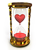 Photo 300 DPI: Golden hourglass with heart and blood