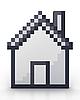 Photo 300 DPI: Pixelated house