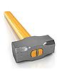 Metal sledge hammer isolated | Stock Illustration
