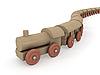 木制玩具火车头 | 光栅插图