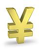 Gold yen sign | Stock Illustration