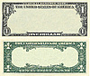 Photo 300 DPI: Clear 1 dollar banknote pattern