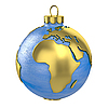 Photo 300 DPI: Christmas ball shaped as globe or planet, Africa part