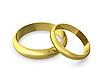 Two golden wedding rings | Stock Illustration