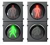 Photo 300 DPI: Set of pedestrian traffic lights