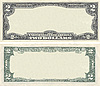 Clear 2 dollar banknote pattern for design purposes | Stock Foto