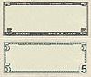 ID 3126992 | Leere Vorlage der 5-Dollar-Banknote für Design-Zwecke | Foto mit hoher Auflösung | CLIPARTO