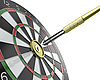 Photo 300 DPI: Dartboard with keyhole in center with key on arrow