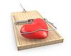 ID 3174738 | Herz gefangen in Mausefalle | Illustration mit hoher Auflösung | CLIPARTO