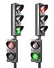 ID 3174759 | Zestaw dla pieszych światła światła z lampy i iść pieszo | Stockowa ilustracja wysokiej rozdzielczości | KLIPARTO
