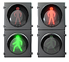 Photo 300 DPI: Set of pedestrian lights
