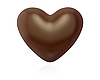 Heart shaped chocolate candy | Stock Illustration