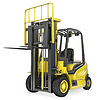 ID 3301221 | Yellow fork lift truck with raised fork, front view | High resolution stock illustration | CLIPARTO
