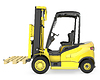 ID 3301226 | Yellow fork lift truck, with pallet | High resolution stock illustration | CLIPARTO