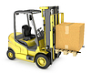 ID 3301233 | Yellow fork lift truck with large carton box | High resolution stock illustration | CLIPARTO