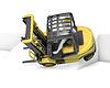 ID 3301242 | Żółty wózek widłowy spada po włączeniu stoku | Stockowa ilustracja wysokiej rozdzielczości | KLIPARTO
