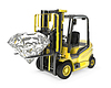 Fork lift truck lifts round cut diamond | Stock Illustration