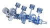 Photo 300 DPI: V8 engine pistons on crankshaft, half x-ray version