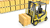 ID 3346130 | Yellow fork lift truck with stack of carton boxes | High resolution stock illustration | CLIPARTO