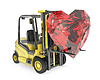 ID 3346131 | Fork lift truck lifts heart cut ruby | High resolution stock illustration | CLIPARTO