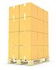 Stack of cardboard boxes on pallet | Stock Illustration