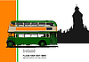 Vintage green bus illustration | Stock Vector Graphics