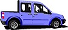 Vector clipart: Light purple delivery car