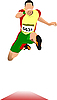 Vector clipart: Man long jump. Sport.