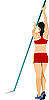 Vector clipart: Athlete pole vaulting