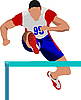 Vector clipart: Man running hurdles