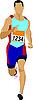 Vector clipart: runner
