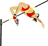 Vector clipart: Woman high jumping