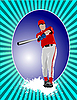 Vector clipart: Baseball player poster