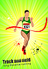 Vector clipart: Poster with woman runner