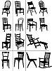 Silhouetten von Stühlen
