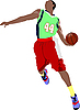 Vector clipart: Basketball player