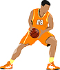 Basketball player | Stock Illustration