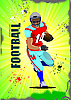 Vector clipart: American football sport poster