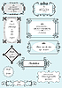 Vector clipart: Set of ornate frames and ornaments with sample text