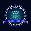 Vector clipart: vintage style card