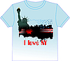 Vector clipart: Trendy T-Shirt design with New York