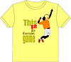 Vector clipart: Trendy T-Shirt design with tennis player