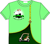 Vector clipart: Trendy T-Shirt design with Golf club