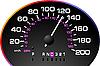 车速表 | 向量插图