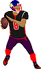 Vector clipart: American football player
