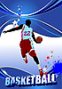 Basketball player poster | Stock Vector Graphics
