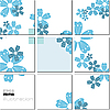 Vector clipart: geometrical mosaic pattern in blue tones