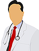 Vector clipart: Medical doctor with stethoscope
